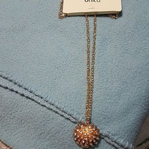 Gold with diamond necklace